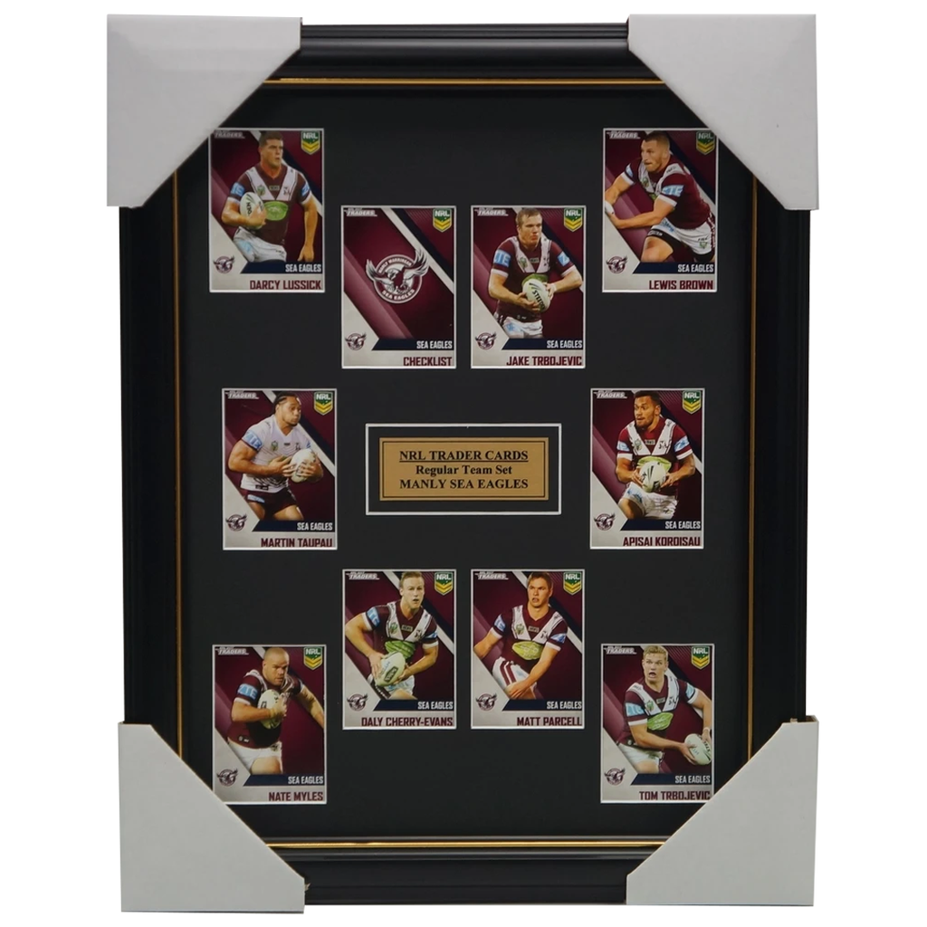2017 Nrl Traders Cards Manly Sea Eagles Team Set Framed Cherry-evans Myles Brown - 3066