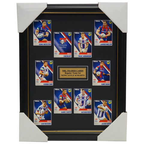 2017 NRL Traders Cards Newcastle Knights Team Set Framed Gagai Mullen Saifiti - 3097