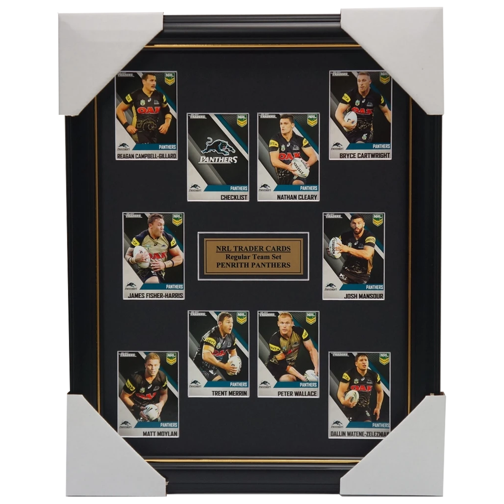 2017 Nrl Traders Cards Penrith Panthers Team Set Framed Cleary Mansour Moylan - 3099