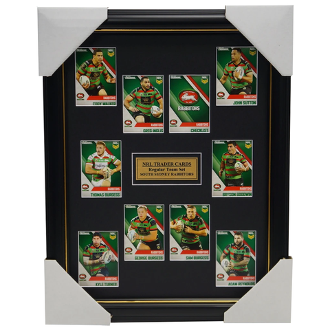 2017 NRL Traders Cards South Sydney Rabbitohs  Team Set Framed Inglis Burgess - 3095