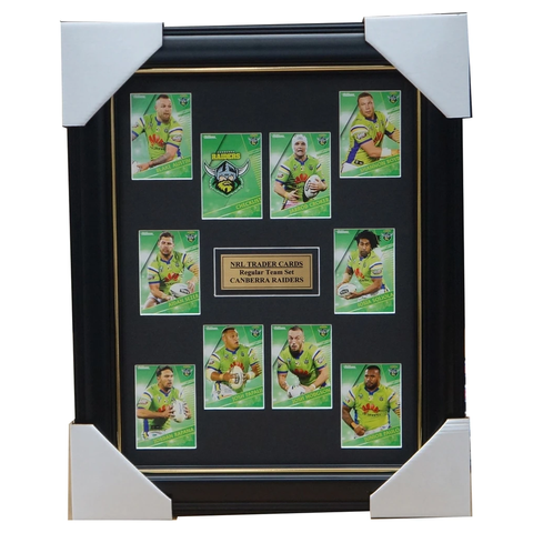2018 NRL Traders Cards Canberra Raiders Team Set Framed Hodgson Croker Rapana - 3425
