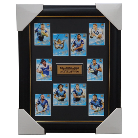 2018 Nrl Traders Cards Gold Coast Titans Team Set Framed Jarryd Hayne James - 3429