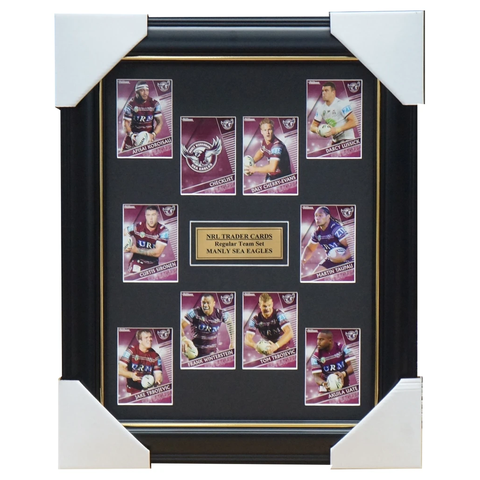 2018 Nrl Traders Cards Manly Sea Eagles Team Set Framed Cherry-evans Uate Taupau - 3424