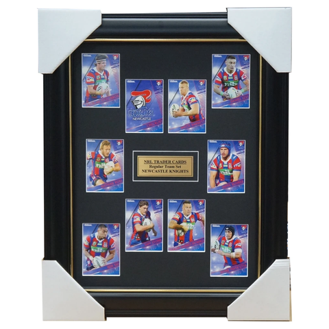 2018 NRL Traders Cards Newcastle Knights Team Set Framed Barnett Ross  - 3431