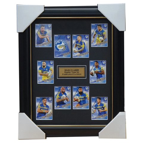 2018 NRL Traders Cards Parramatta Eels Team Set Framed Jennings Hoffman Matagi - 3415