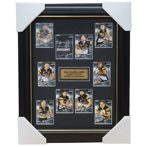2018 Nrl Traders Cards Penrith Panthers Team Set Framed Merrin Cleary Latu - 3429