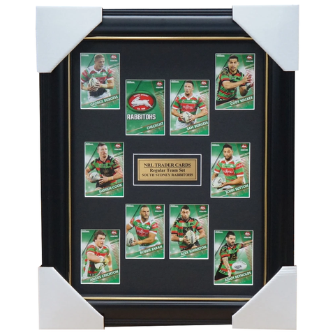 2018 Nrl Traders Cards South Sydney Rabbitohs  Team Set Framed Burgess Farah - 3427