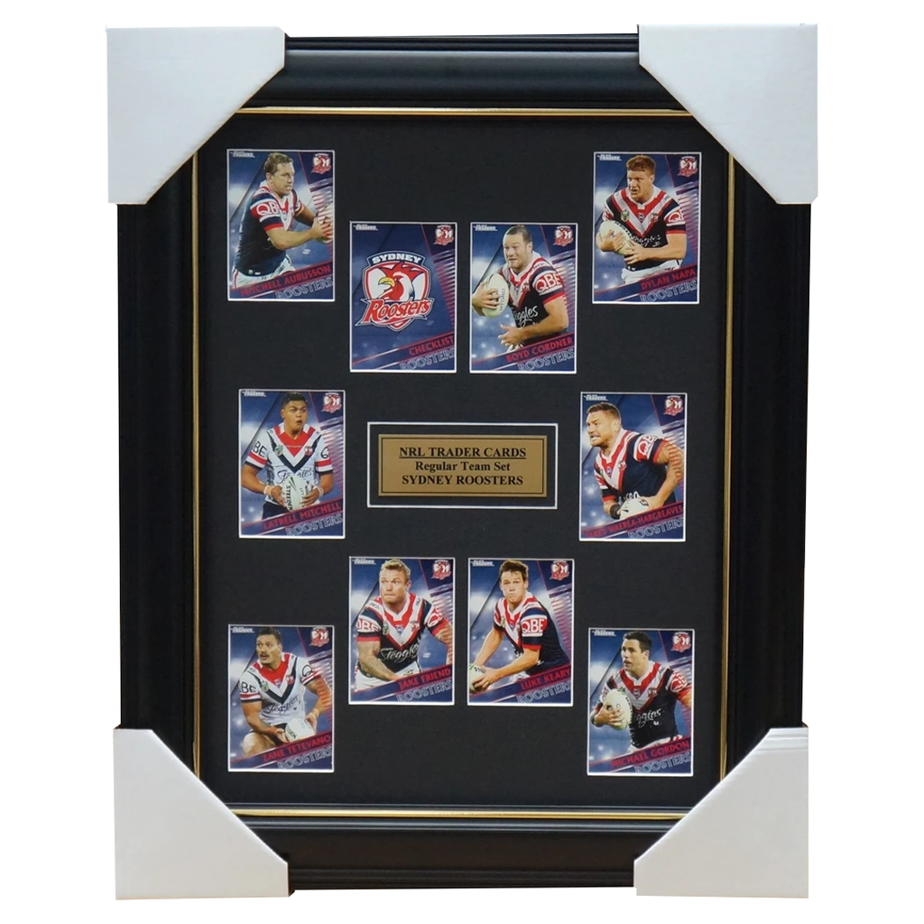 2018 NRL Traders Cards Sydney Roosters Team Set Framed Pearce Mitchell Friend - 3423