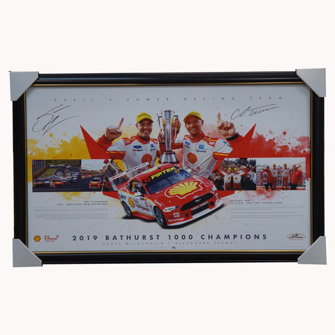 2019 Bathurst Champions Dual Signed Shell V-power Mclaughlin & Premat Print Framed - 4520