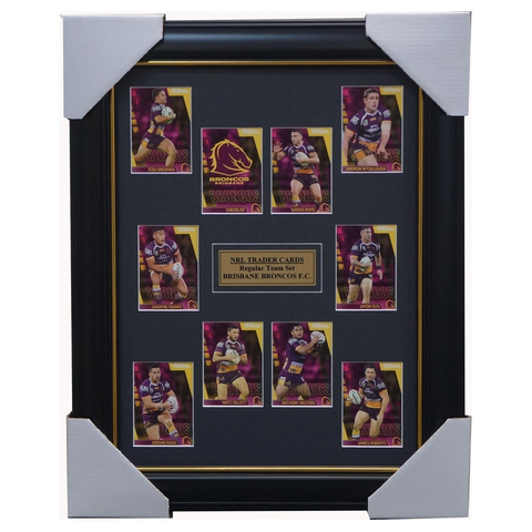 2019 Nrl Traders Cards Brisbane Broncos Team Set Framed Boyd Milford Gillett  - 3623