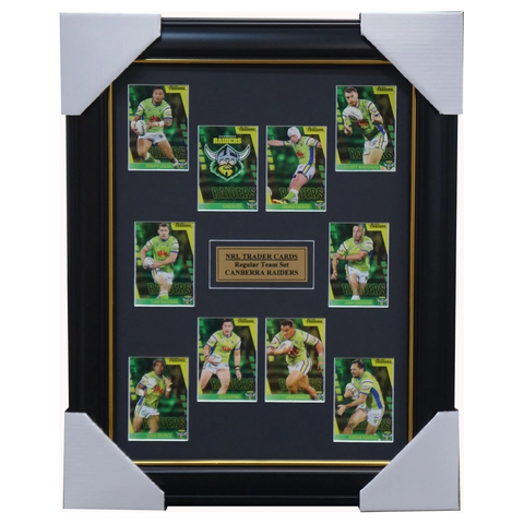 2019 NRL Traders Cards Canberra Raiders Team Set Framed Croker Hodgson Rapana - 3638