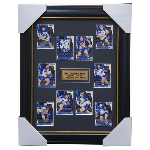 2019 NRL Traders Cards Canterbury Bulldogs Team Set Framed Lewis Smith Elliot  - 3626