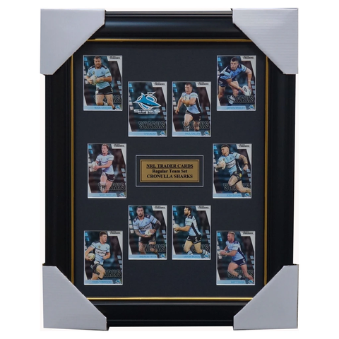 2019 Nrl Traders Cards Cronulla Sharks Team Set Framed Paul Gallen Graham Woods - 3637
