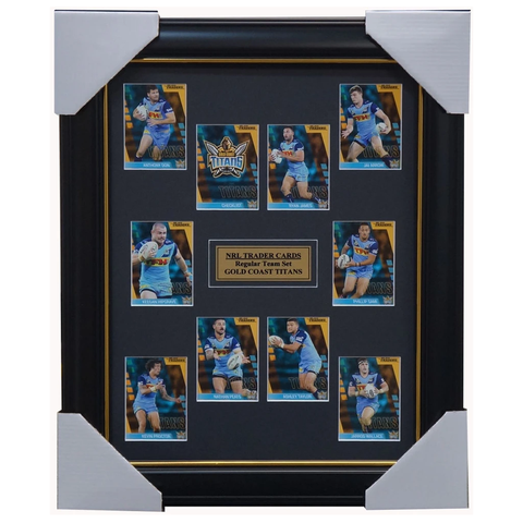 2019 Nrl Traders Cards Gold Coast Titans Team Set Framed Taylor Proctor James - 3636