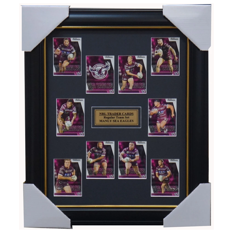 2019 Nrl Traders Cards Manly Sea Eagles Team Set Framed Cherry-evans Walker - 3635