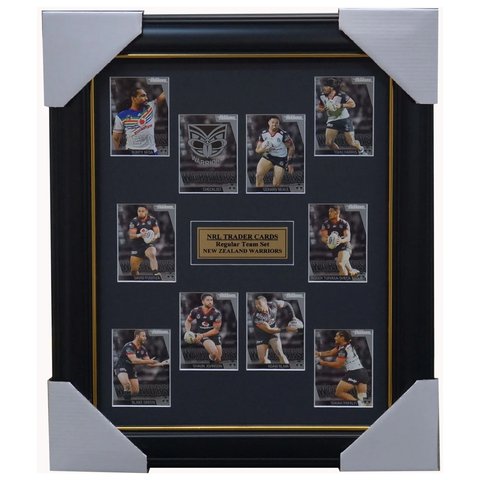 2019 Nrl Traders Cards New Zealand Warriors Team Set Framed Johnson Papali'i - 3627