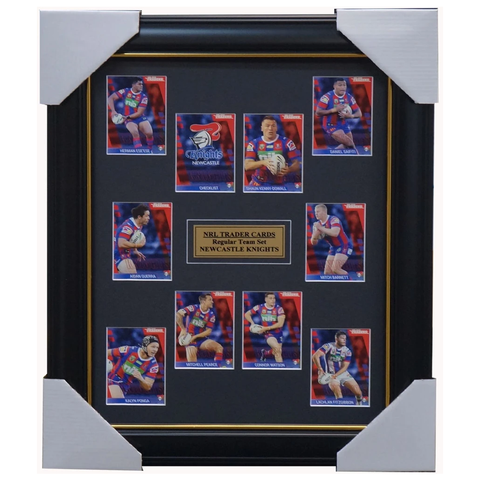 2019 NRL Traders Cards Newcastle Knights Team Set Framed Pearce Barnett Ponga  - 3633