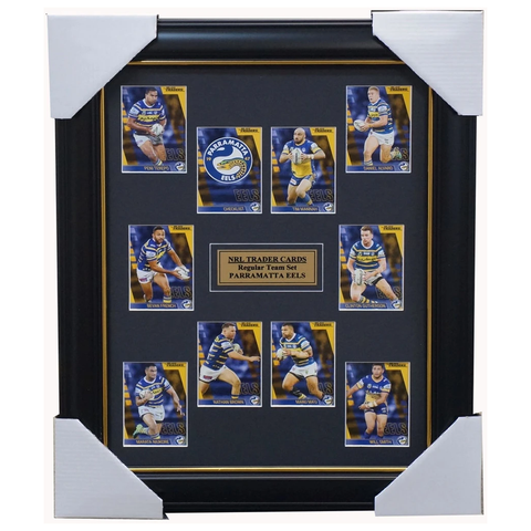 2019 NRL Traders Cards Parramatta Eels Team Set Framed Terepo Ma'u Smith Alvaro  - 3631
