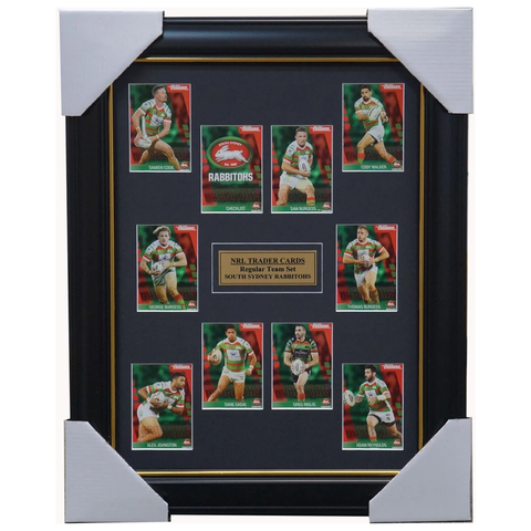 2019 NRL Traders Cards South Sydney Rabbitohs Team Set Framed Burgess Inglis - 3625