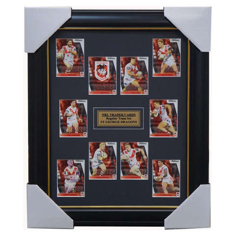 2019 Nrl Traders Cards St George Illawarra Dragons Team Set Framed Dufty Widdop Debelin  - 3629