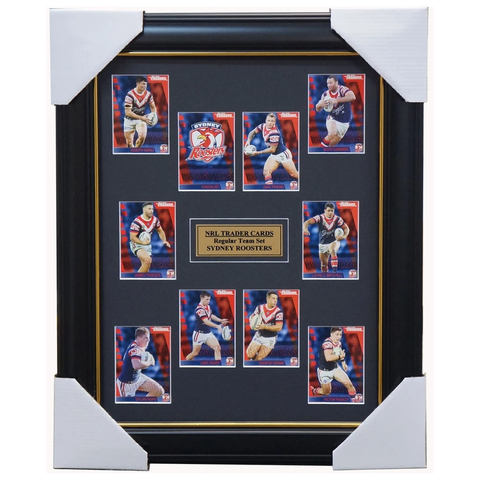 2019 NRL Traders Cards Sydney Roosters Team Set Framed Cronk Mitchell Friend - 3624