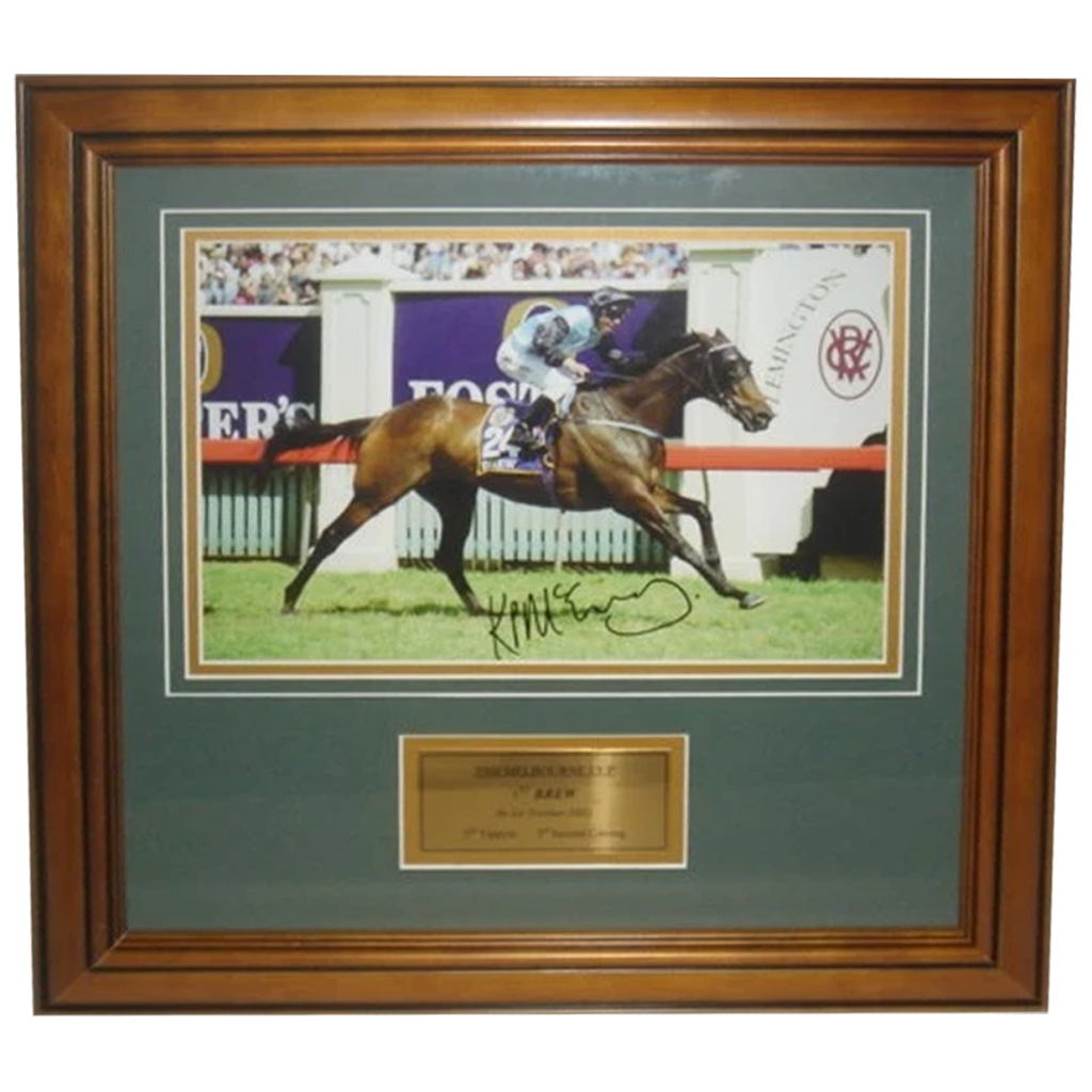 2000 Melbourne Cup Winner Brew Signed by Jockey Kerrin McEvoy - 2704
