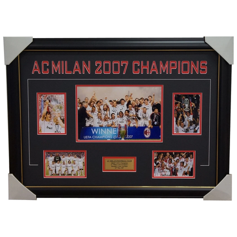 AC Milan 2007 Champions League Photo Collage Framed - 1833