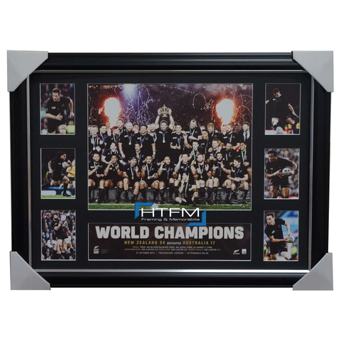 All Blacks 2015 World Cup Rugby Champions Official Deluxe Tribute Frame Carter Mccaw - 2596