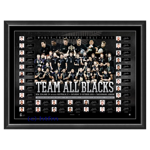 All Blacks Signed 2015 World Cup Champions Team Official Lithograph Dan Carter - 2594
