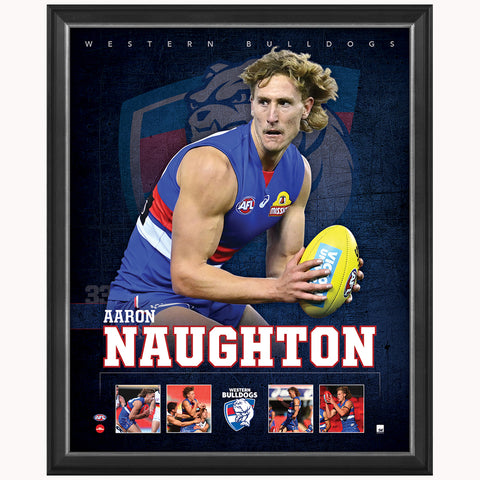 Aaron Naughton Western Bulldogs F.C. Official Licensed AFL Print Framed NEW - 4486