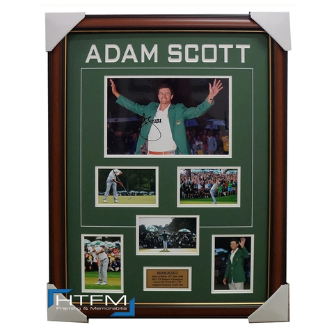 Adam Scott 2013 US Masters Champion Signed Photo Collage Framed - 1881