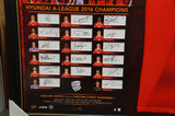Adelaide United 2016 A-League Champions Jersey with Team Cards Signed Framed - 2872