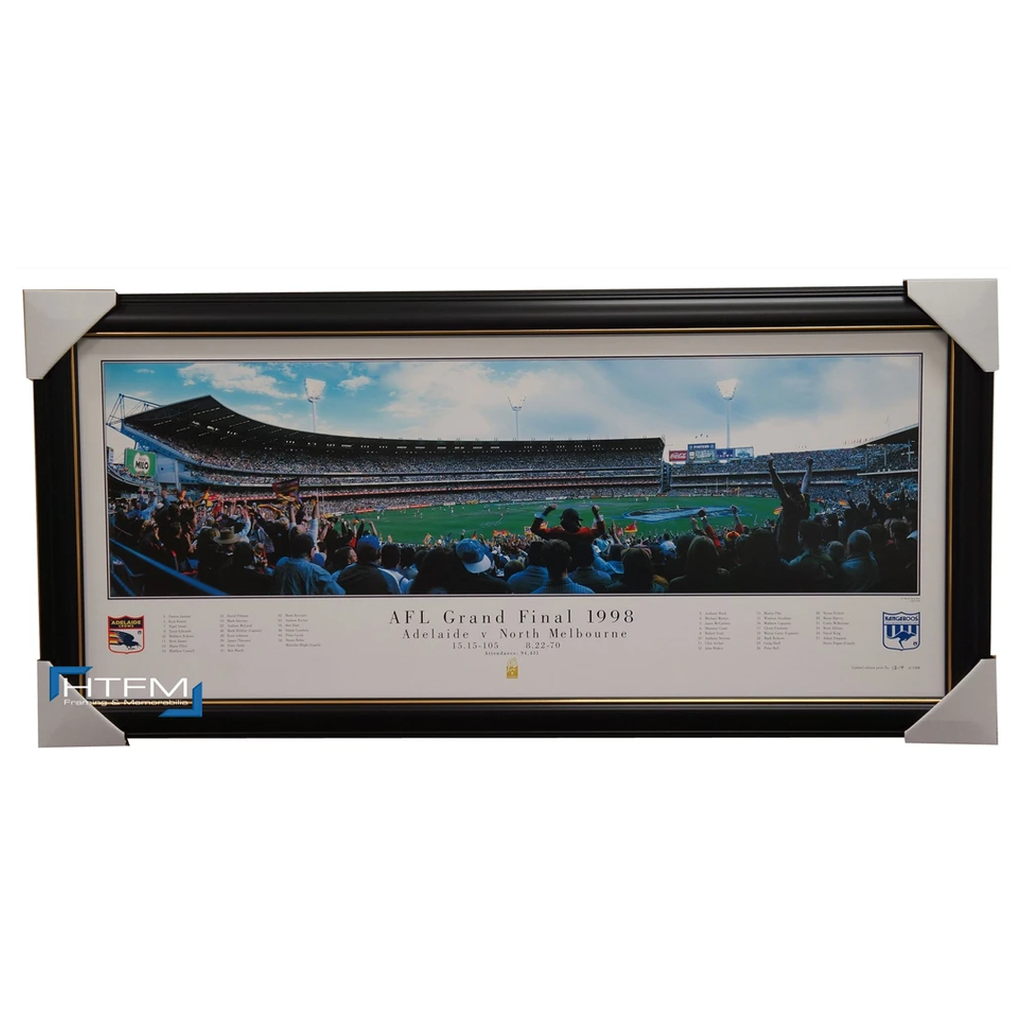 Adelaide Crows 1998 Afl Premiership L/e Panoramic Print Framed - Mcleod Bickley - 1106