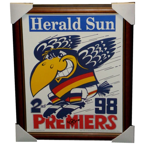 Adelaide Crows 1998 Premiership Original Weg Poster Framed
