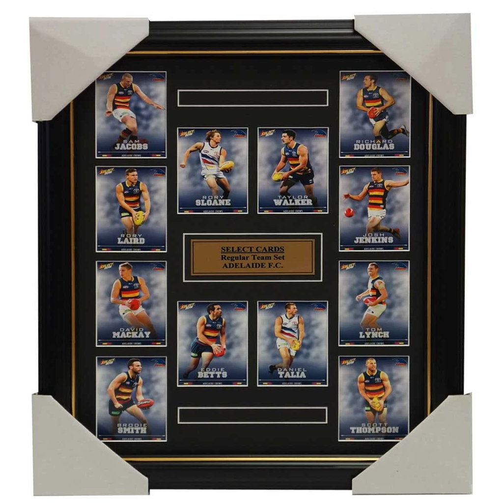 Adelaide Crows 2016 Select Card Team Set Framed Taylor Walker Rory Sloane Betts - 2635