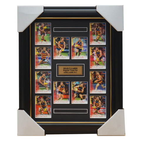 Adelaide Crows 2018 Select Card Team Set Framed Taylor Walker Rory Sloane Betts - 3351