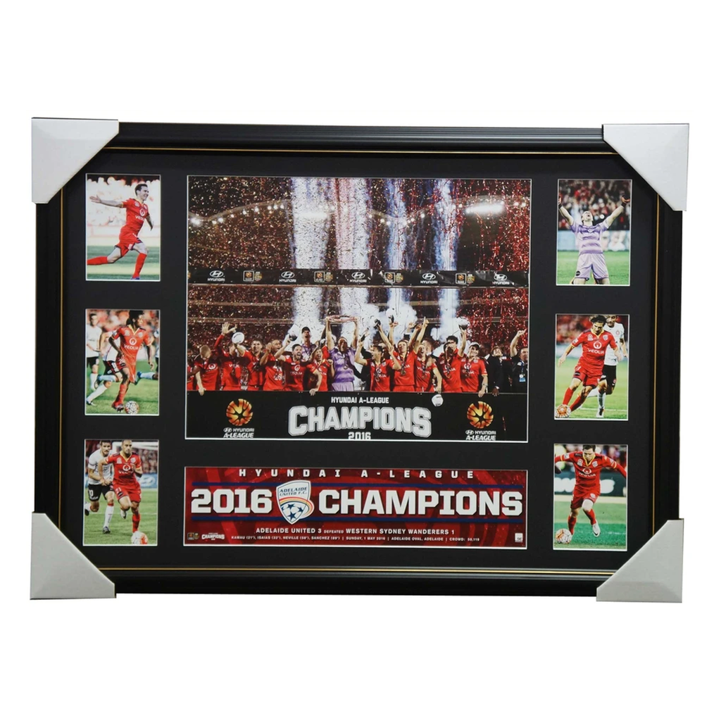 Adelaide United 2016 a-league Champions Official Collage Framed - 2873