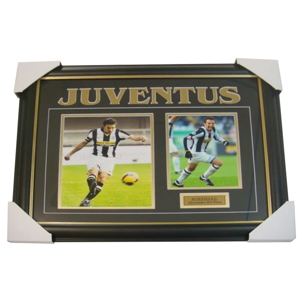 Alessandro Del Piero Dual Juventus Unsigned Photo Collage Framed - 2819