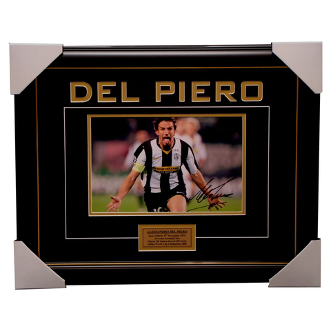 Alessandro Del Piero Juventus Signed Photo Framed - 1170
