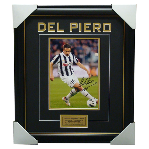 Alessandro Del Piero Juventus Signed Photo Framed - 1171