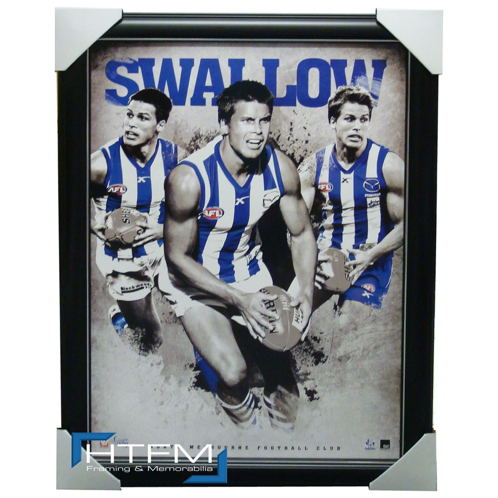 Andrew Swallow North Melbourne Football Club Official Print Framed - 1227
