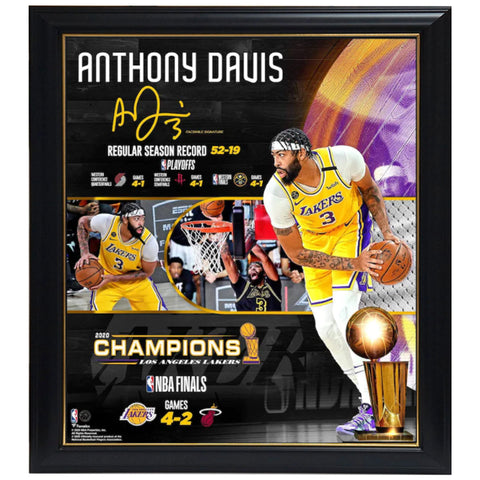 "Anthony Davis Los Angeles Lakers Fanatics Authentic Framed 15"" X 17"" 2020 Nba Finals Champions Collage Frame - 4578"