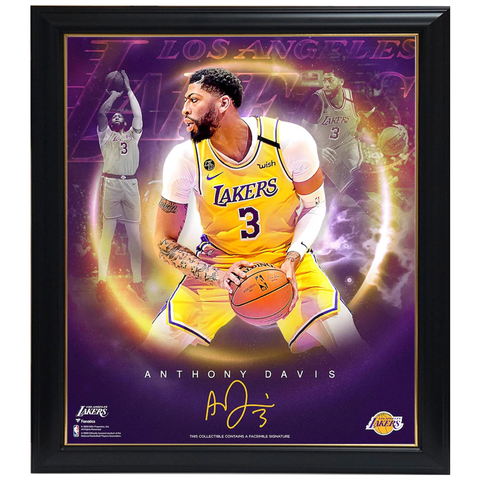 Anthony Davis Los Angeles Lakers Facsimile Signed Official Nba Print Framed - 4417