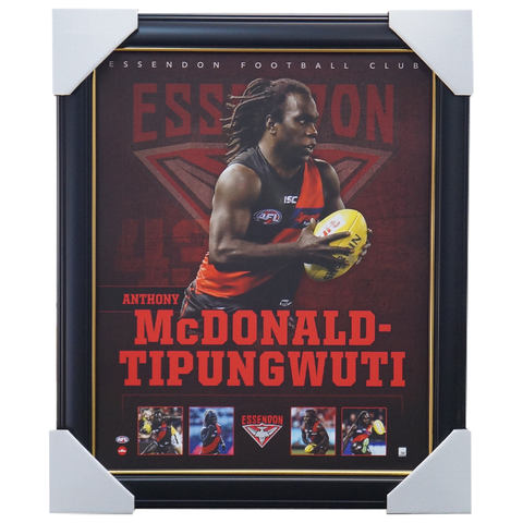 Anthony Mcdonald Tipungwuti Essendon Official Afl Print Framed New - 3751