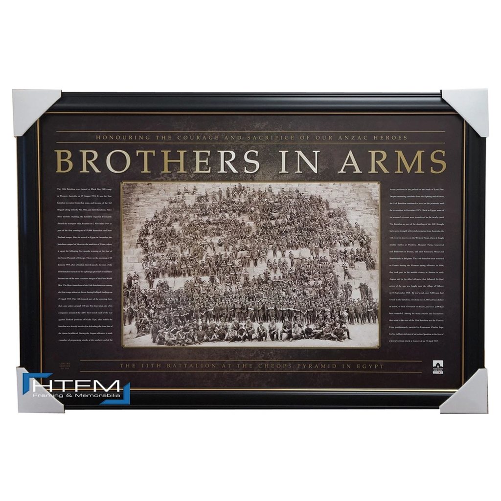 Anzac War Print Framed - Brothers in Arms Ww1 Official War Memorabilia - 1046