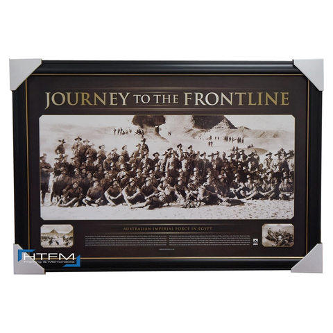 Anzac War Print Framed - Journey to the Frontline Official War Memorabilia - 1045