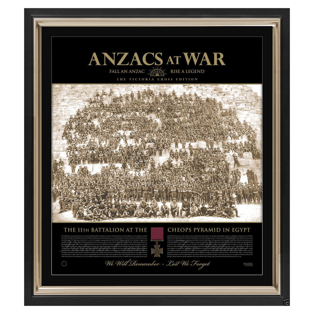Anzac at War Gallipoli the Spirit of the Anzac L/e Print Framed With Victoria Cross Medal - 2937