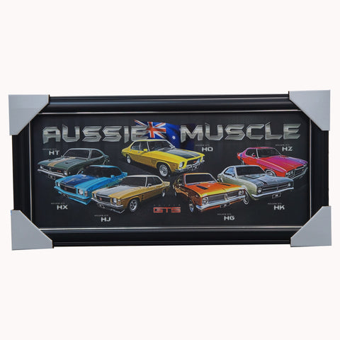 Holden GTS Aussie Muscle Car Print Framed - 4501