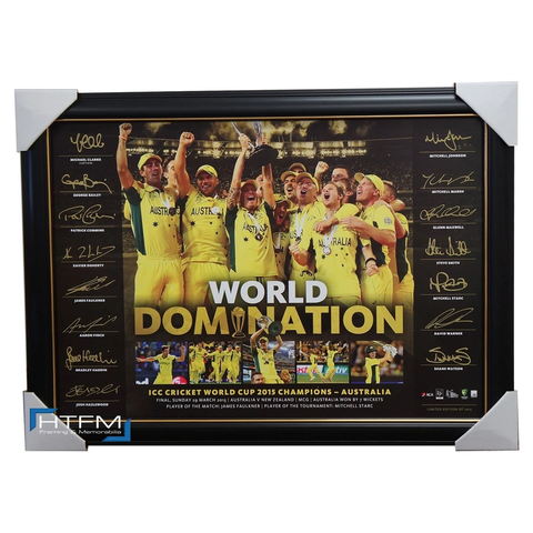 Australia 2015 Icc Cricket World Champions L/e Official Print Framed Clarke - 1053