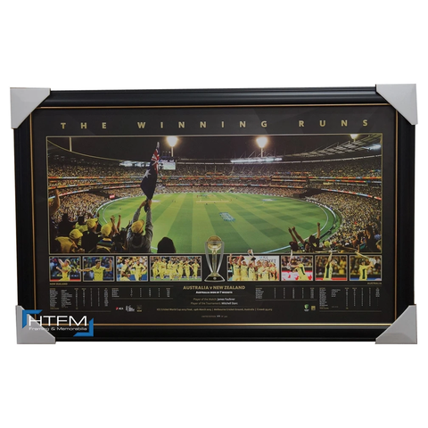 Australia 2015 Icc Cricket World Champions Panoramic Print Winning Runs Framed - 1054